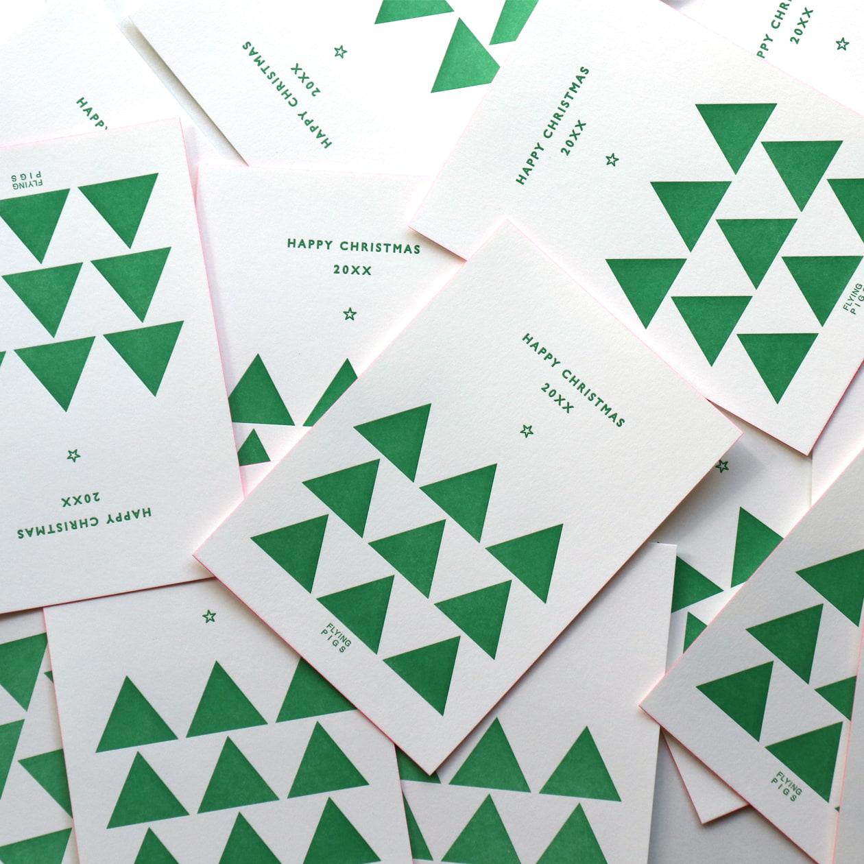 幾何学的なツリーのポストカード