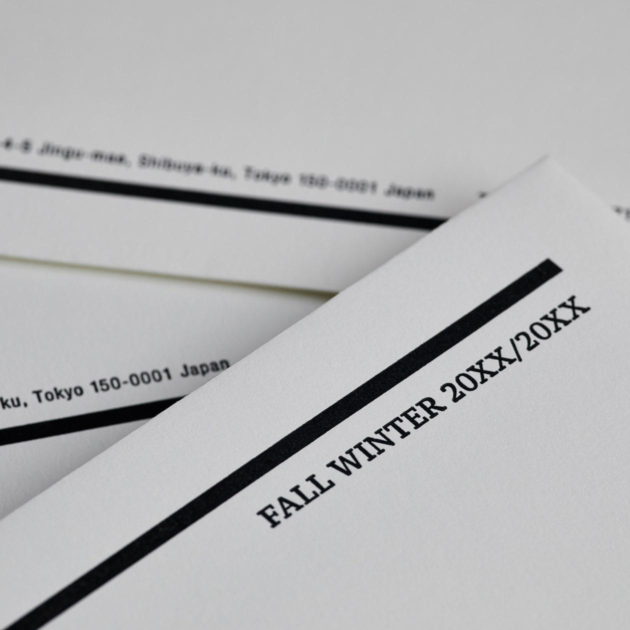 メンズファッション 秋冬コレクション展示会案内状とカタログ
