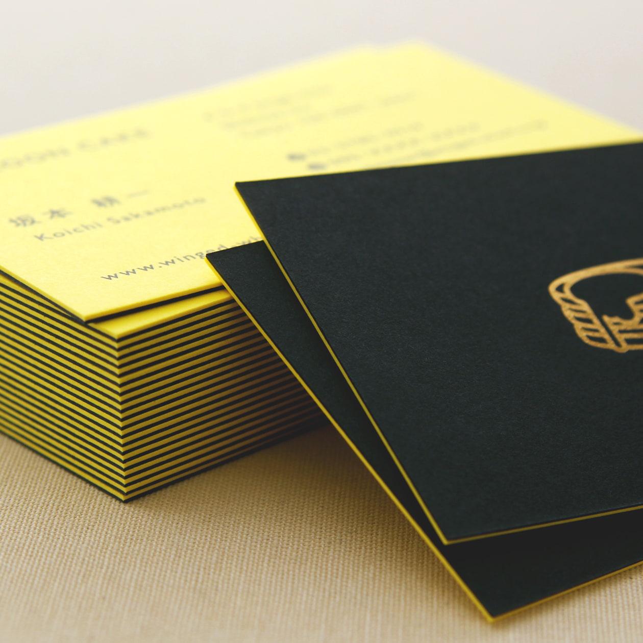 色ボード紙との組み合わせでつくるショップカード