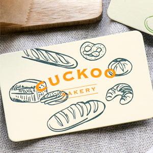ベーカリーショップのカード