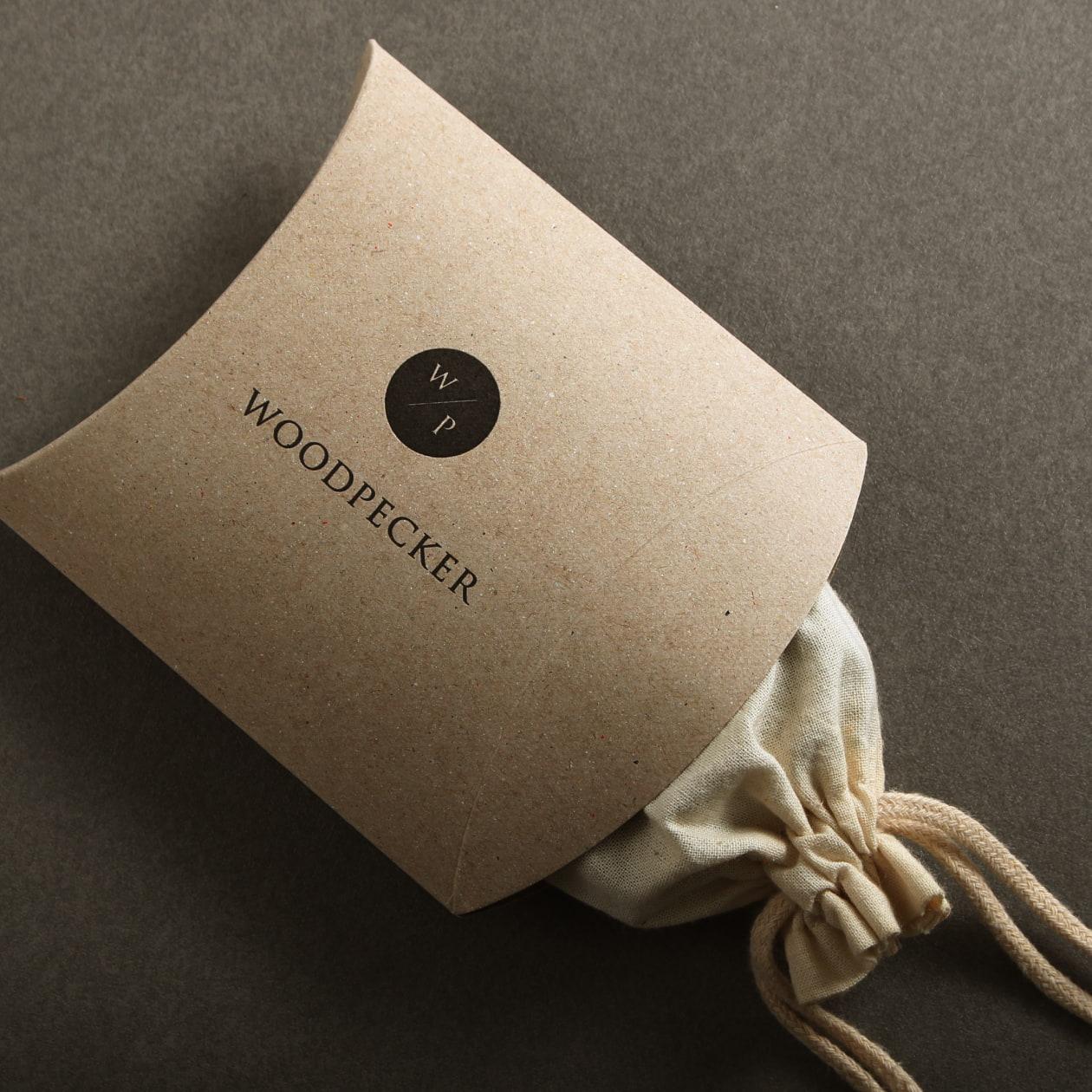 革製品用の商品パッケージ