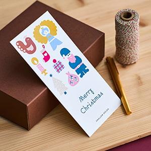 カラフルな色合いが楽しめるクリスマスカード