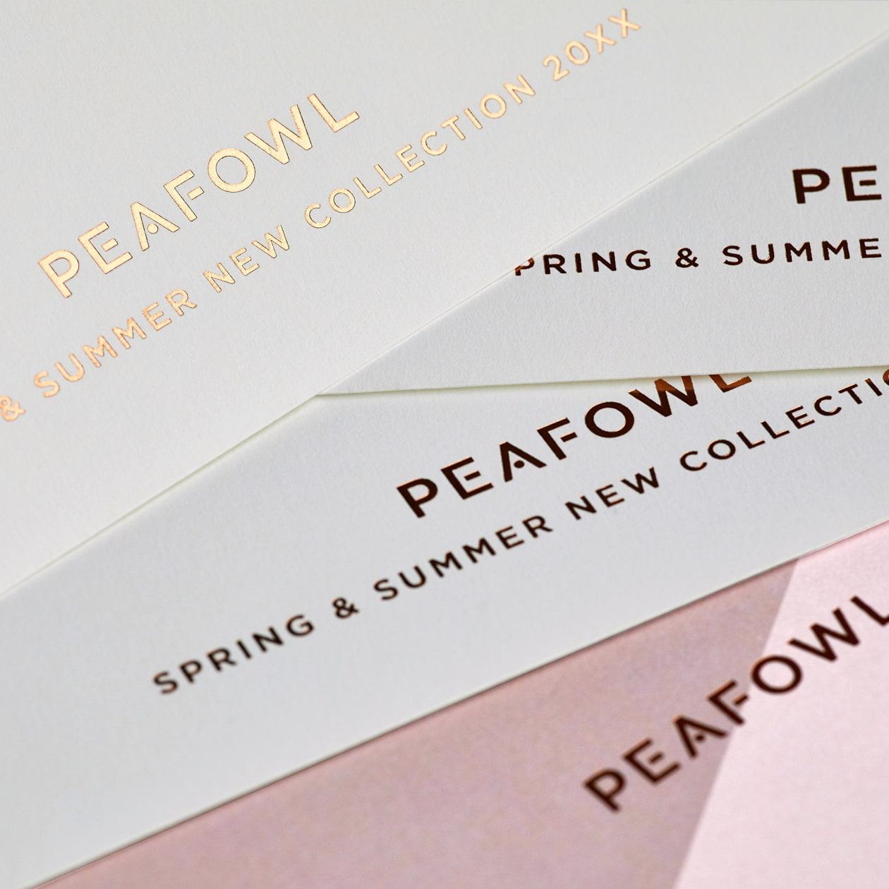 化粧品メーカーのシーズンコレクション案内状