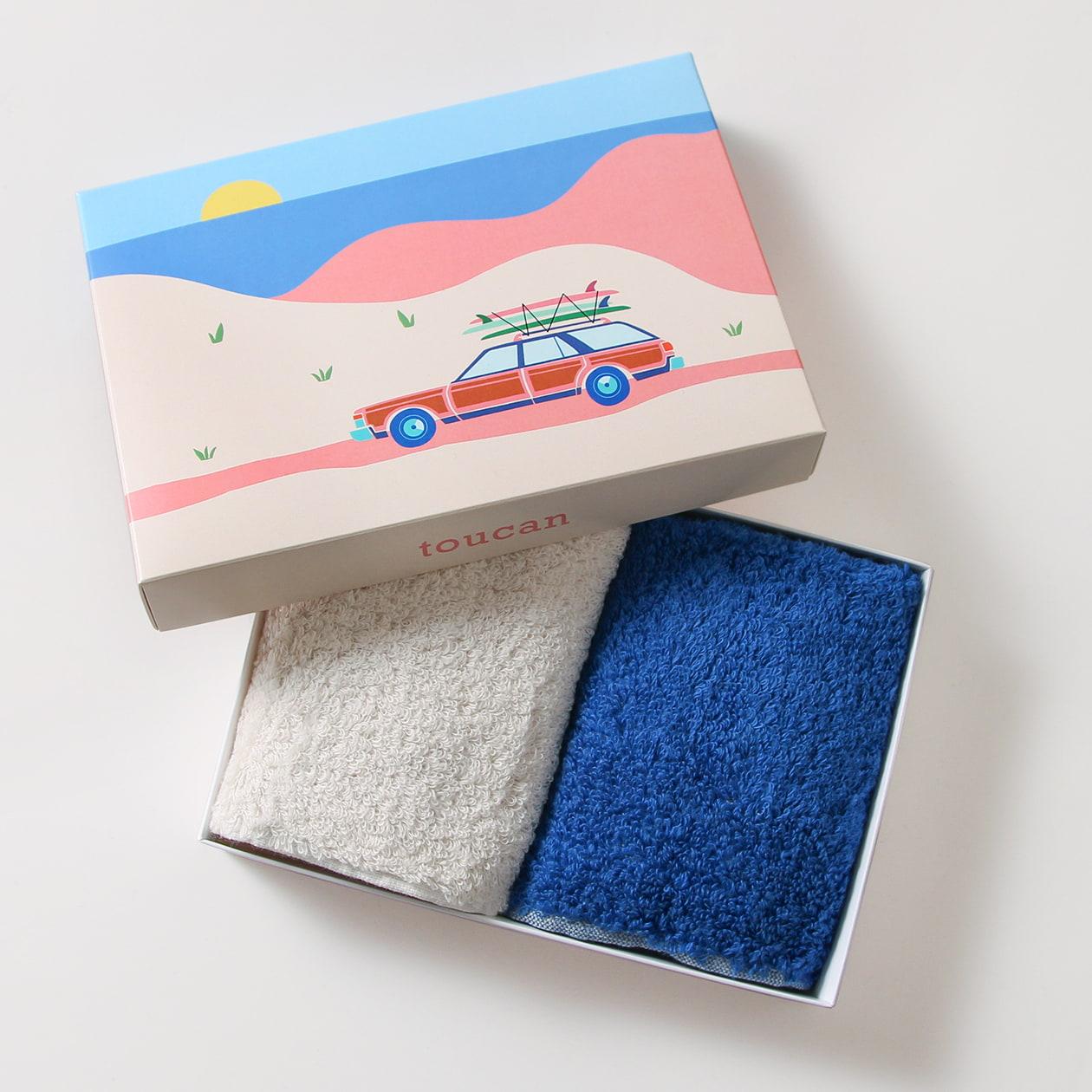 ハンドタオルのギフトパッケージ