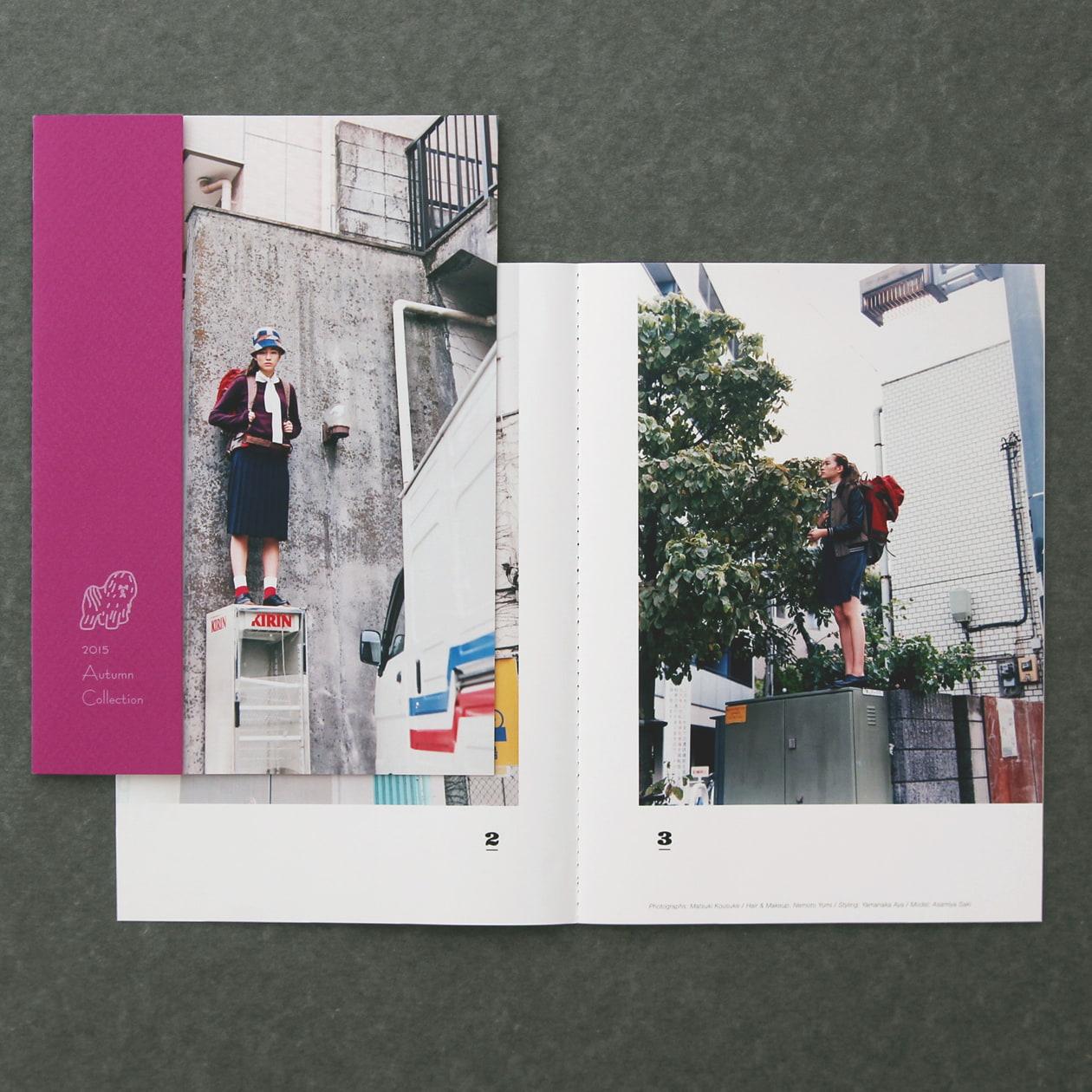 表紙を変形サイズにしてデザイン性を楽しむ冊子
