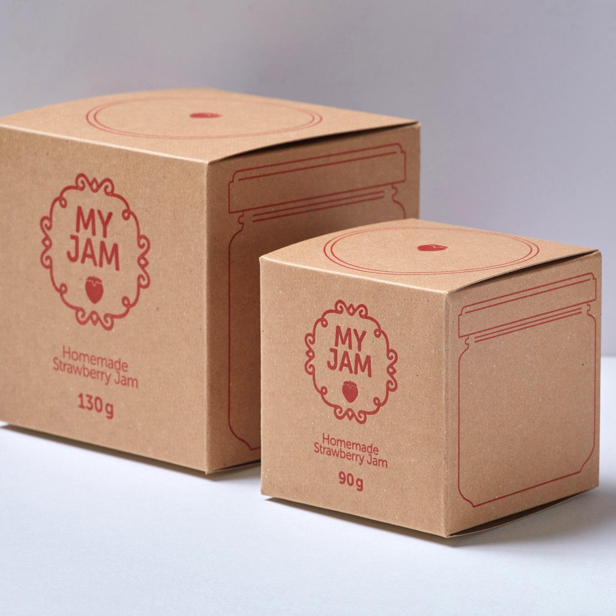 大小2サイズ、手作りジャム瓶の箱