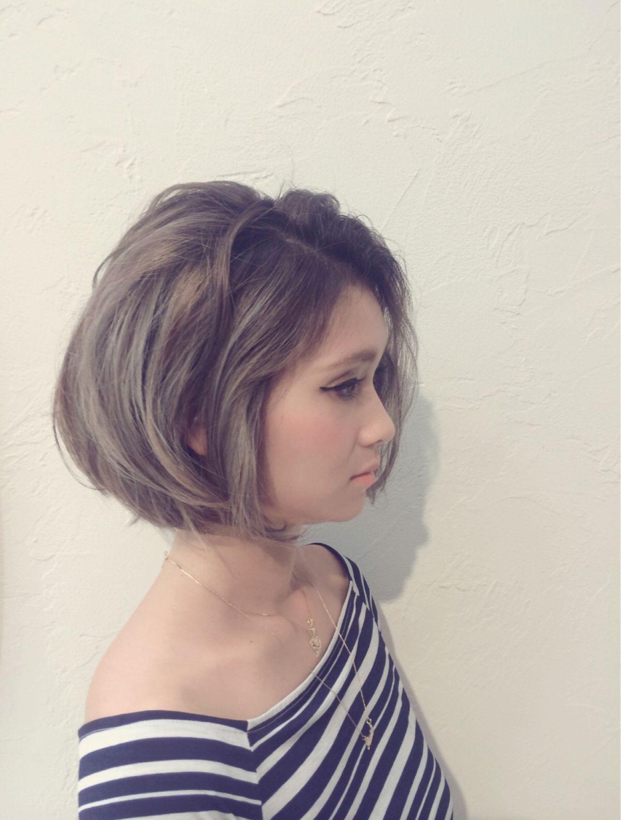 人と被らない私だけのスタイルに。ボブ×グラデーションカラーのヘアスタイルまとめ YUMIKO TAKADA