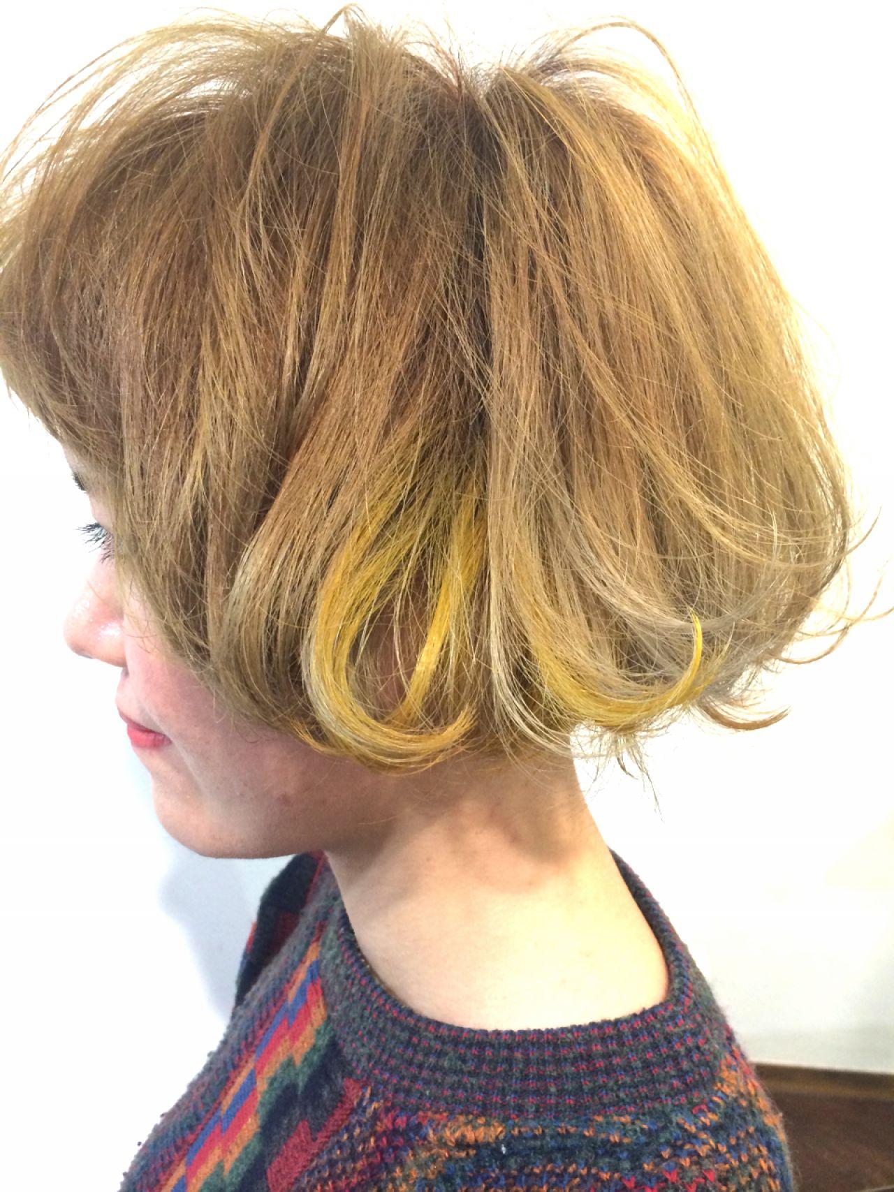 人と被らない私だけのスタイルに。ボブ×グラデーションカラーのヘアスタイルまとめ HAIR ICI LUCE 井上 裕文