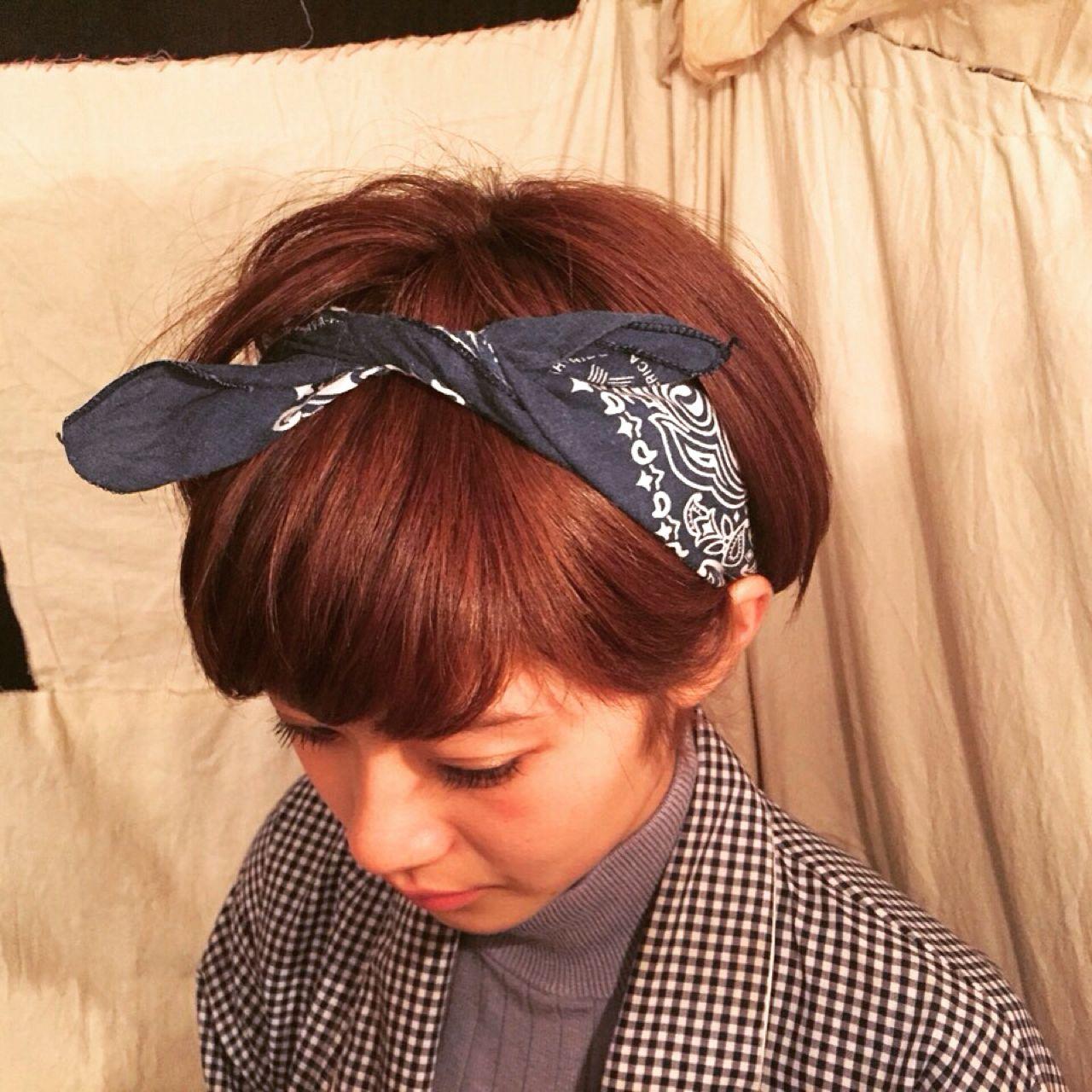 ショートヘアで真似したい!付けるだけでおしゃれ上級者なヘア小物 佐藤 可奈子