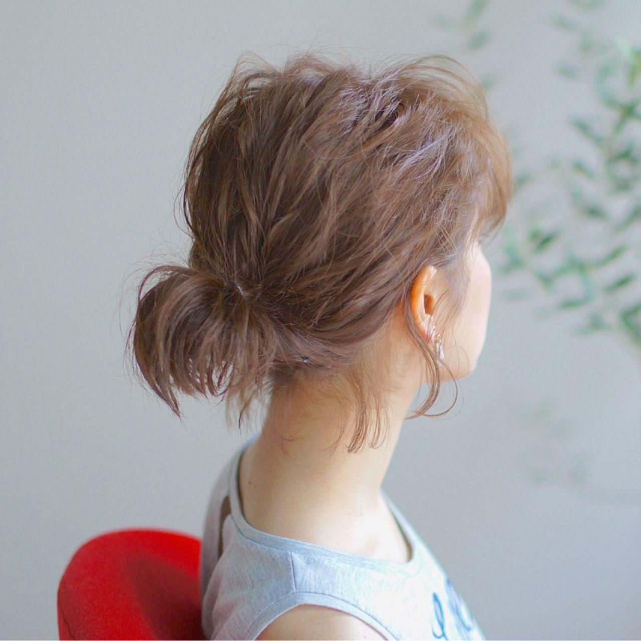 ショートヘアでも楽しめる!簡単可愛いアップヘアアレンジ