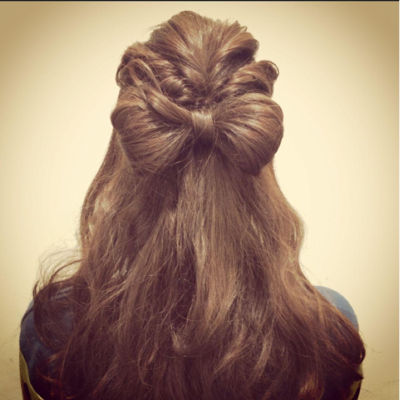 実は簡単!自分の髪でリボンを作ると誰でもかわいい髪型に 一番合戦 彩