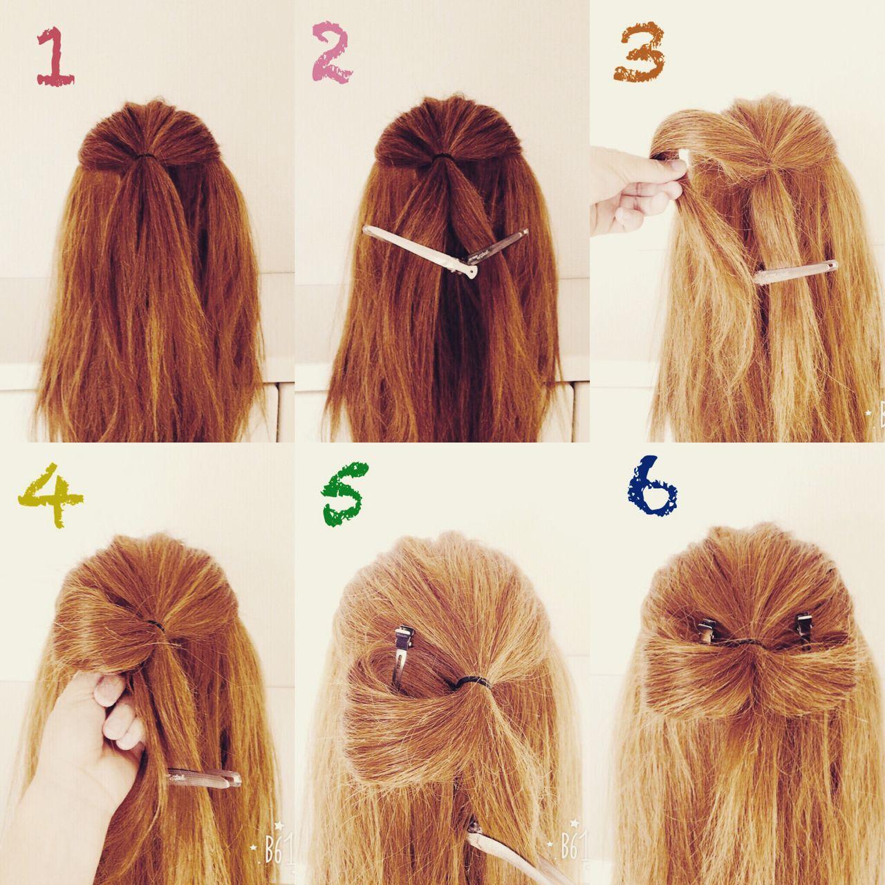 実は簡単!自分の髪でリボンを作ると誰でもかわいい髪型に いまむ