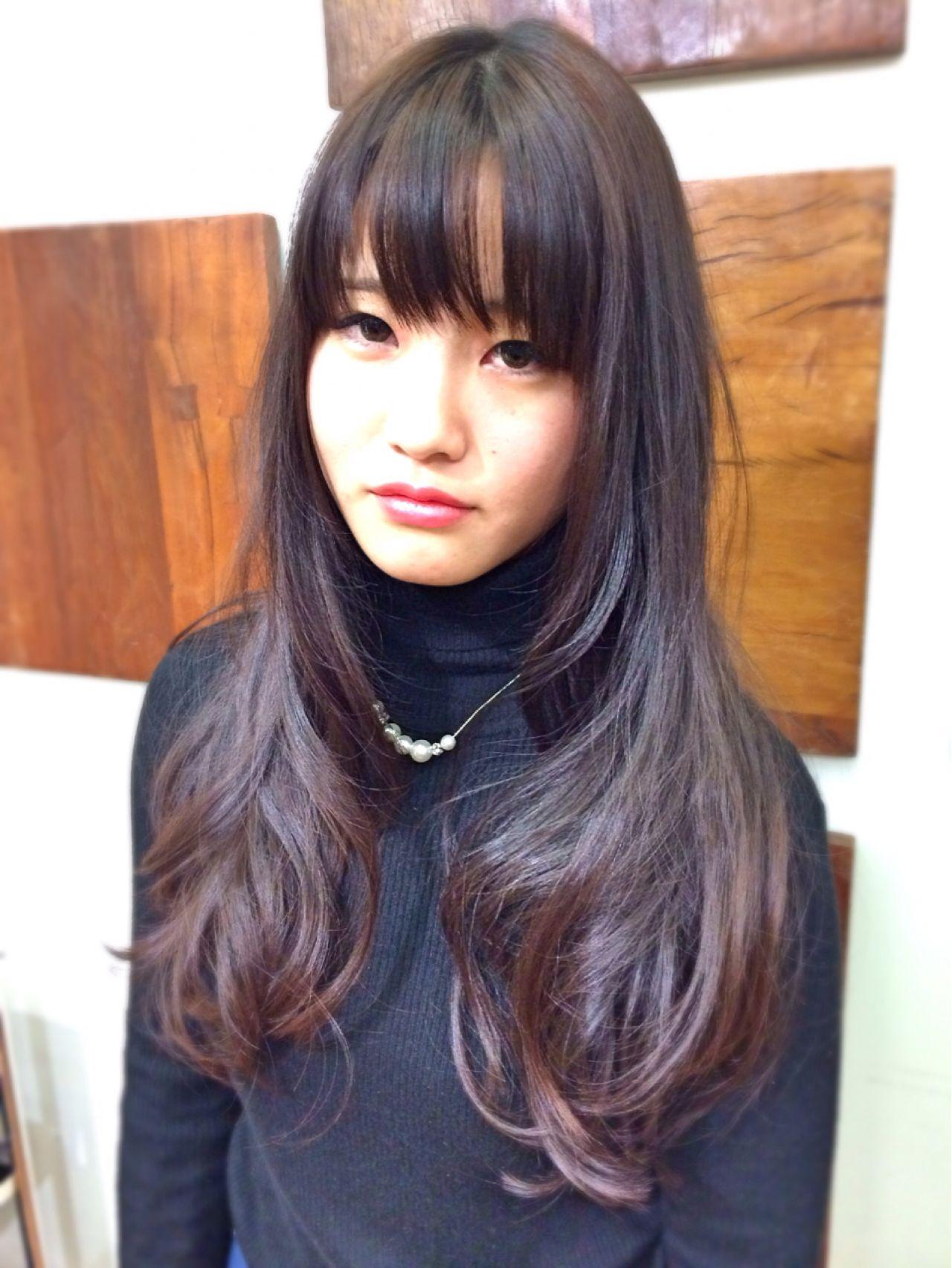 ナチュラル 黒髪 ロング ヘアスタイルや髪型の写真・画像