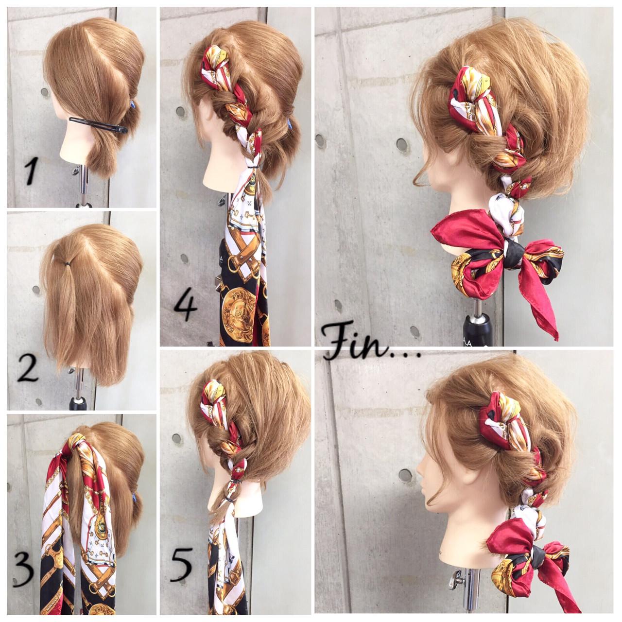 ショート ボブ 簡単ヘアアレンジ ヘアアレンジ ヘアスタイルや髪型の写真・画像