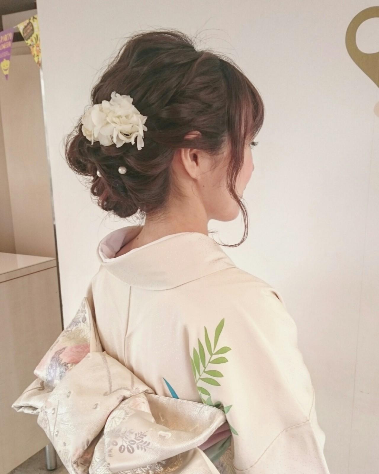 お呼ばれ結婚式に♡和装に合わせたいヘアスタイルまとめ 美和遥