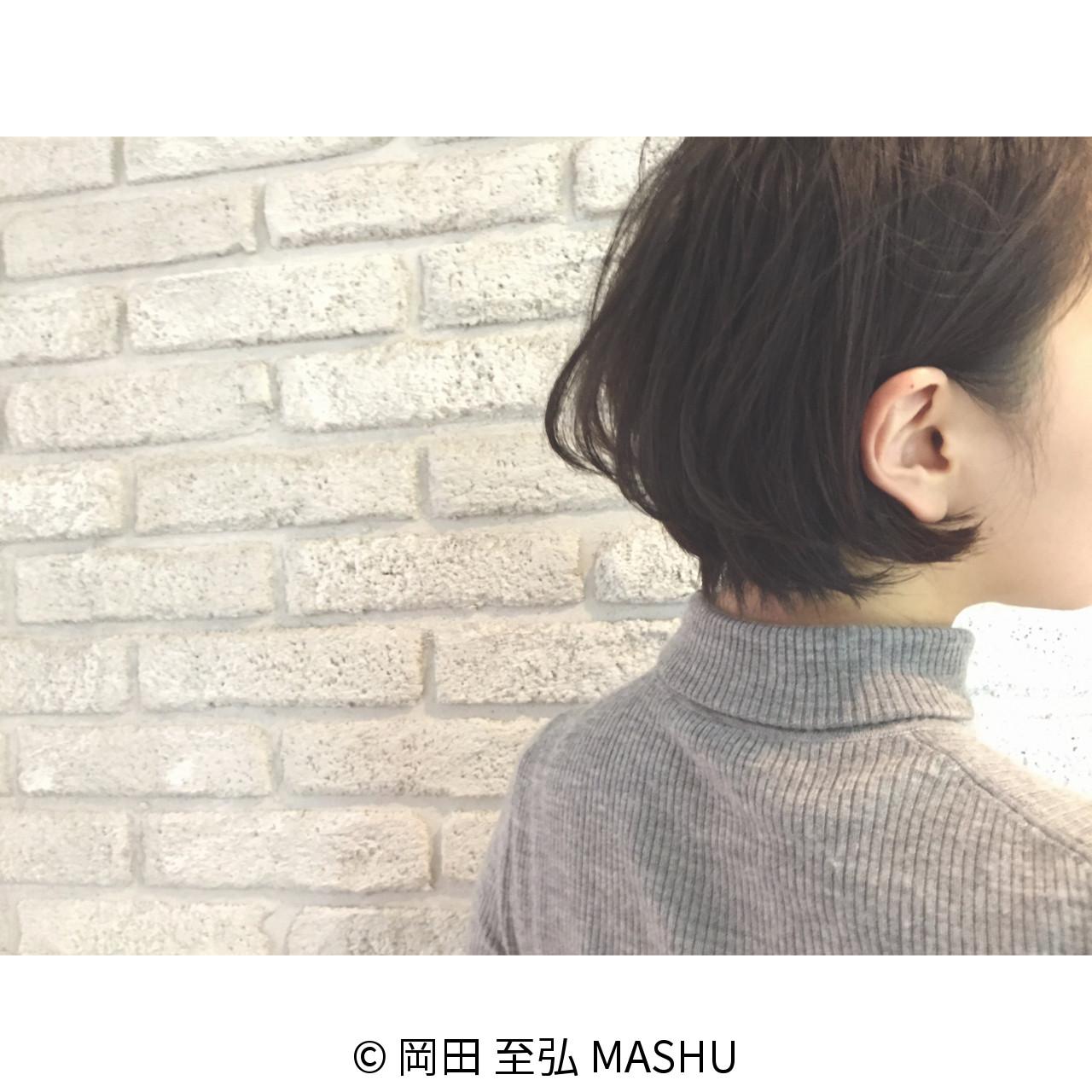 冬にぴったり!タートルネックにも似合う小顔ショートヘアスタイル集  岡田 至弘 MASHU