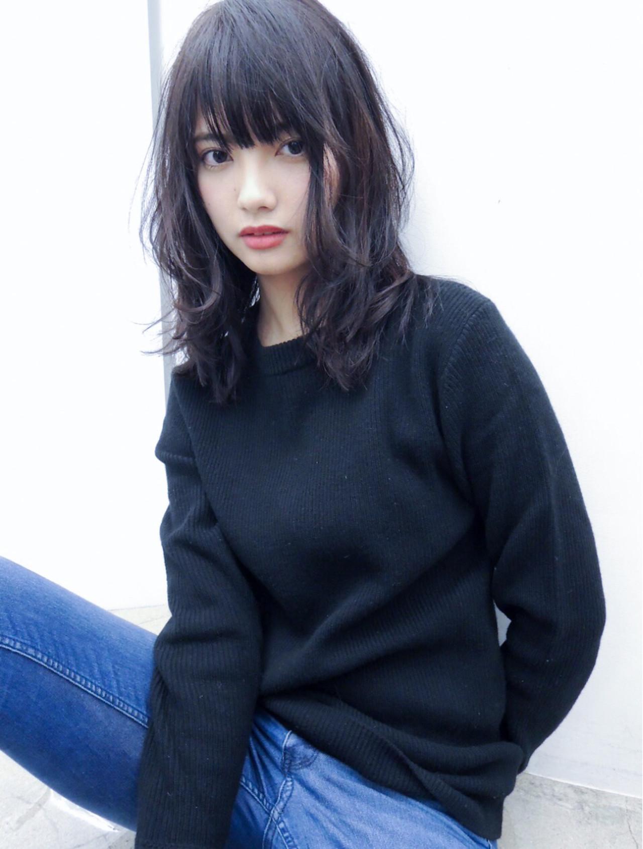 黒髪でも重く見えないミディアムスタイル7選 吉川 ミチオ
