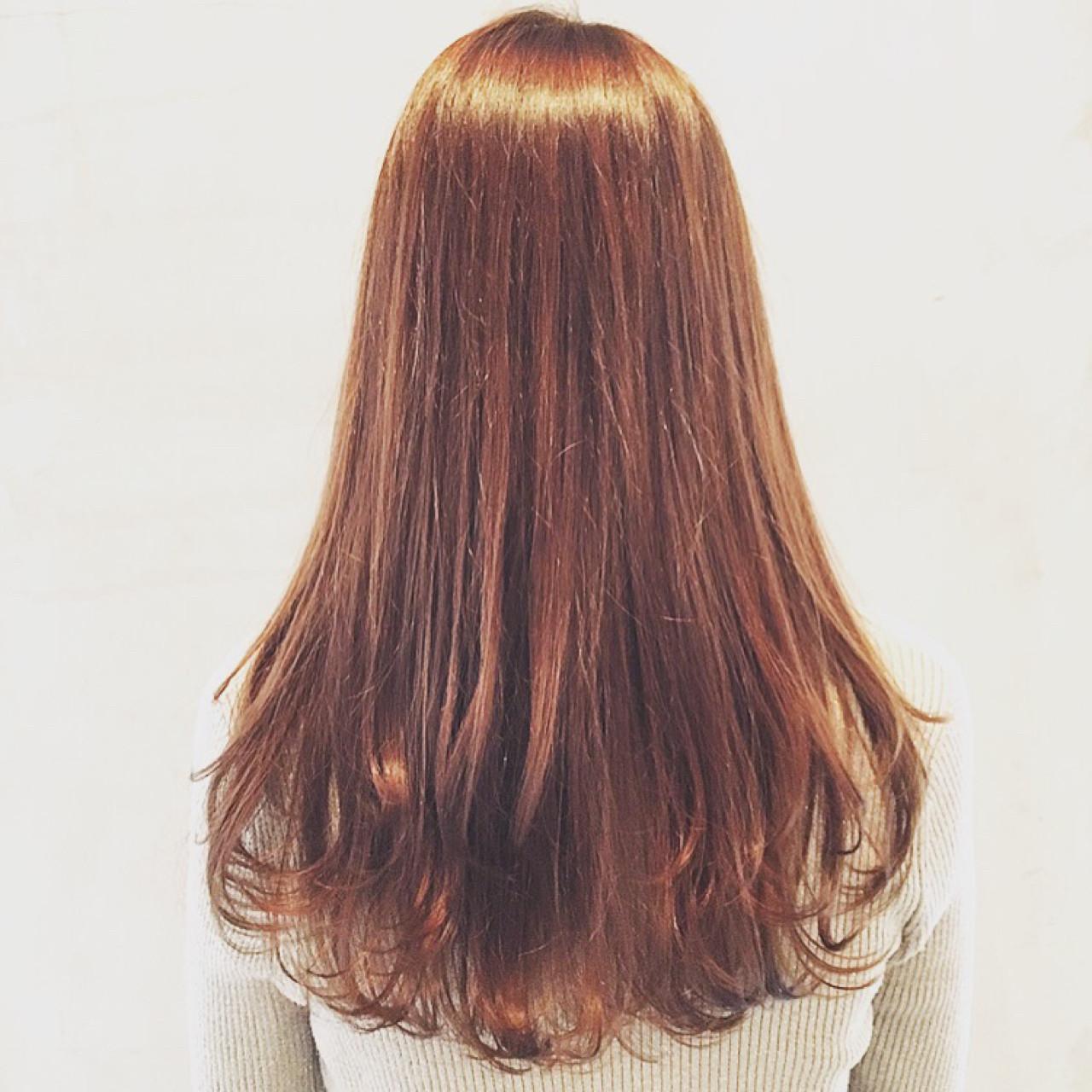 ハイライト ロング パーマ ナチュラル ヘアスタイルや髪型の写真・画像