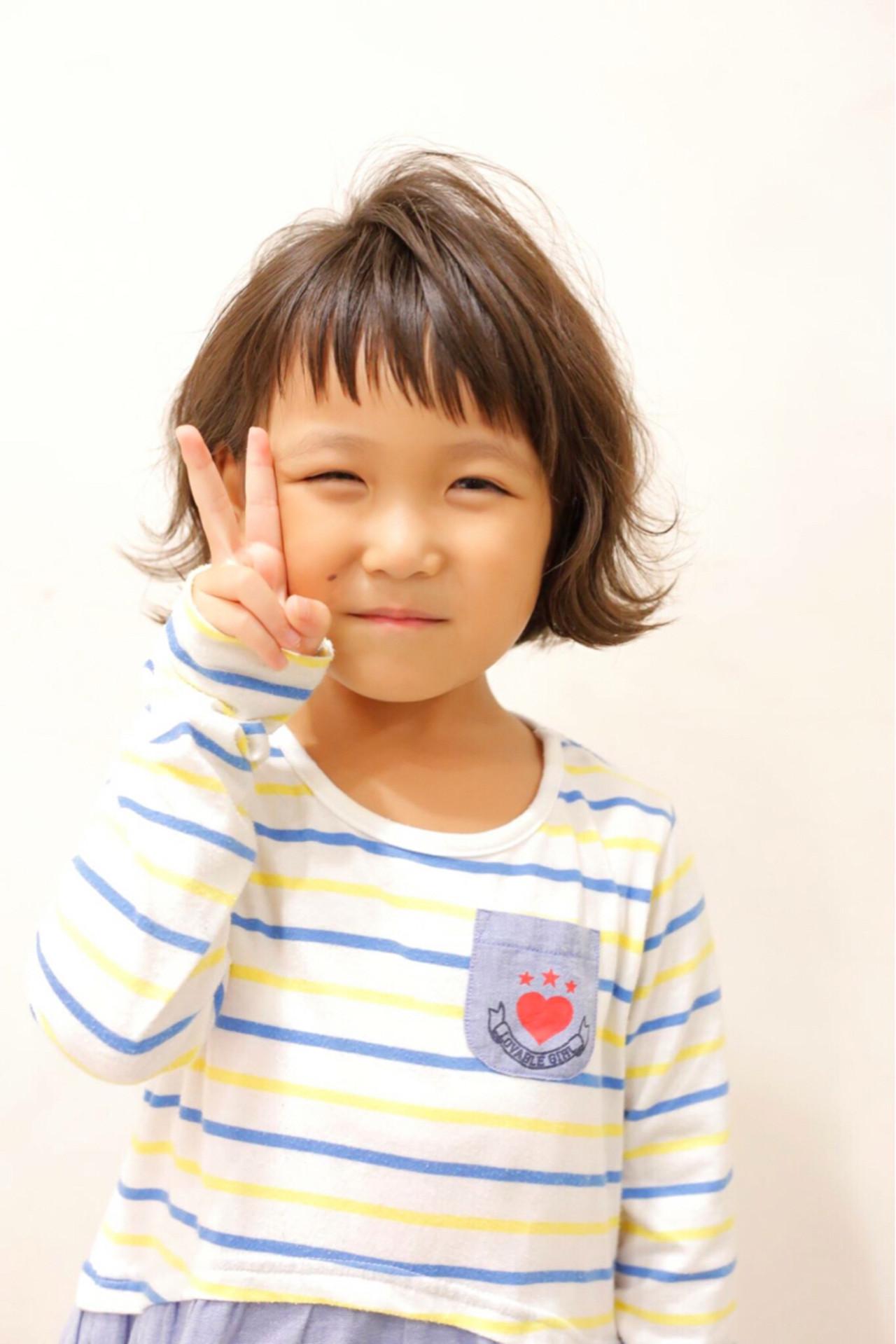 子供 ヘアアレンジ ストリート ボブ ヘアスタイルや髪型の写真・画像