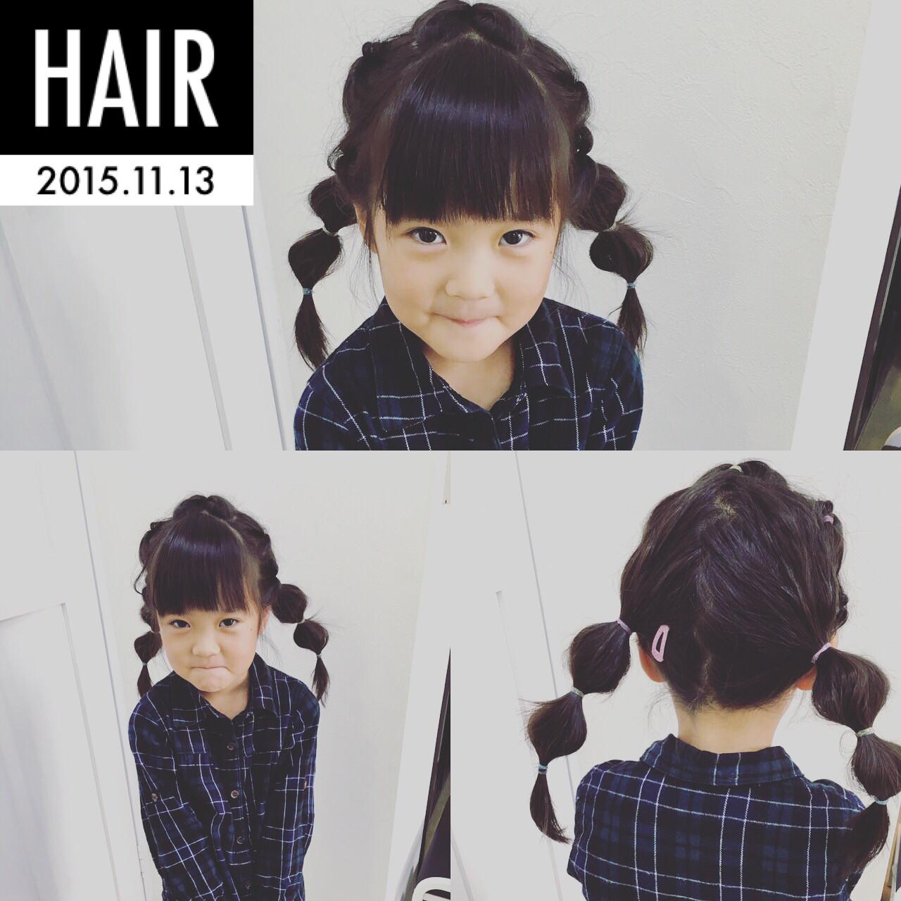 ストリート ヘアアレンジ 子供 ロング ヘアスタイルや髪型の写真・画像