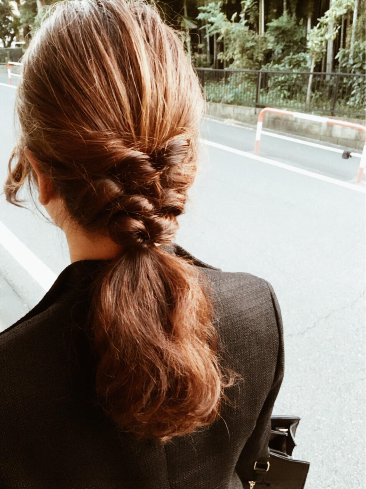 ヘアアレンジ ロング くるりんぱ 大人女子 ヘアスタイルや髪型の写真・画像