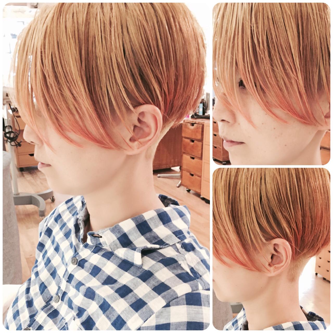 グラデーションカラー ショート 坊主 かっこいい ヘアスタイルや髪型の写真・画像