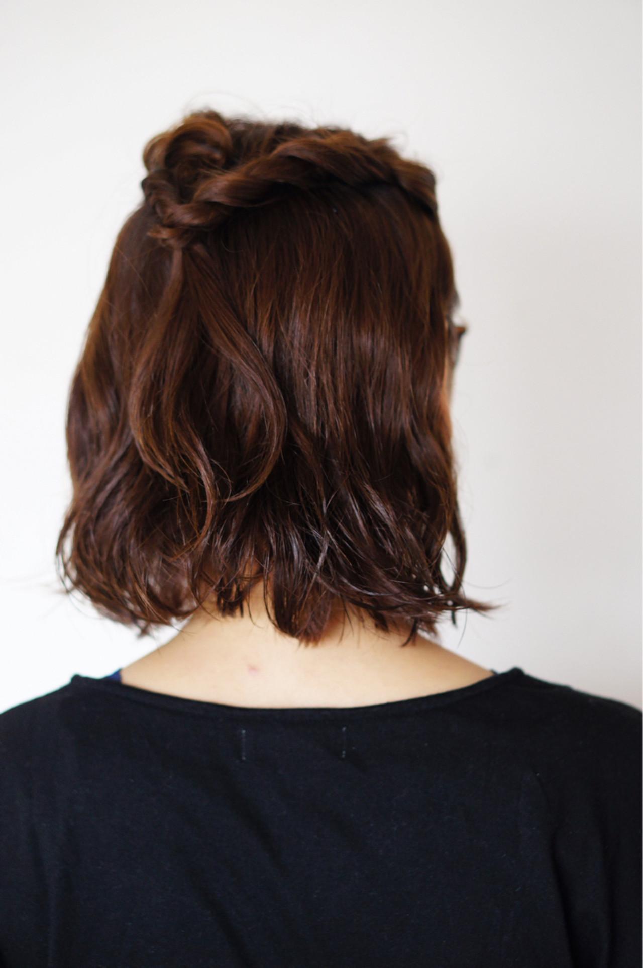 短くても大丈夫!忙しい朝のショートヘアの時短ハーフアップ  ucchi