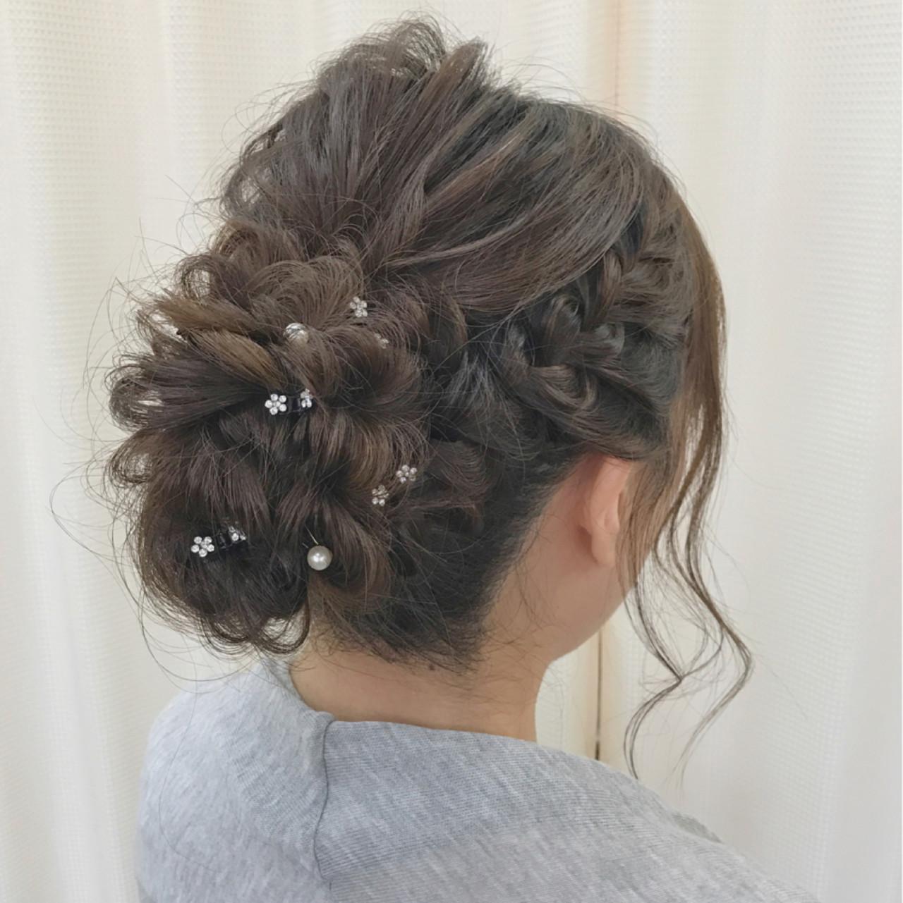 ヘアアレンジ ロング 大人女子 結婚式 ヘアスタイルや髪型の写真・画像