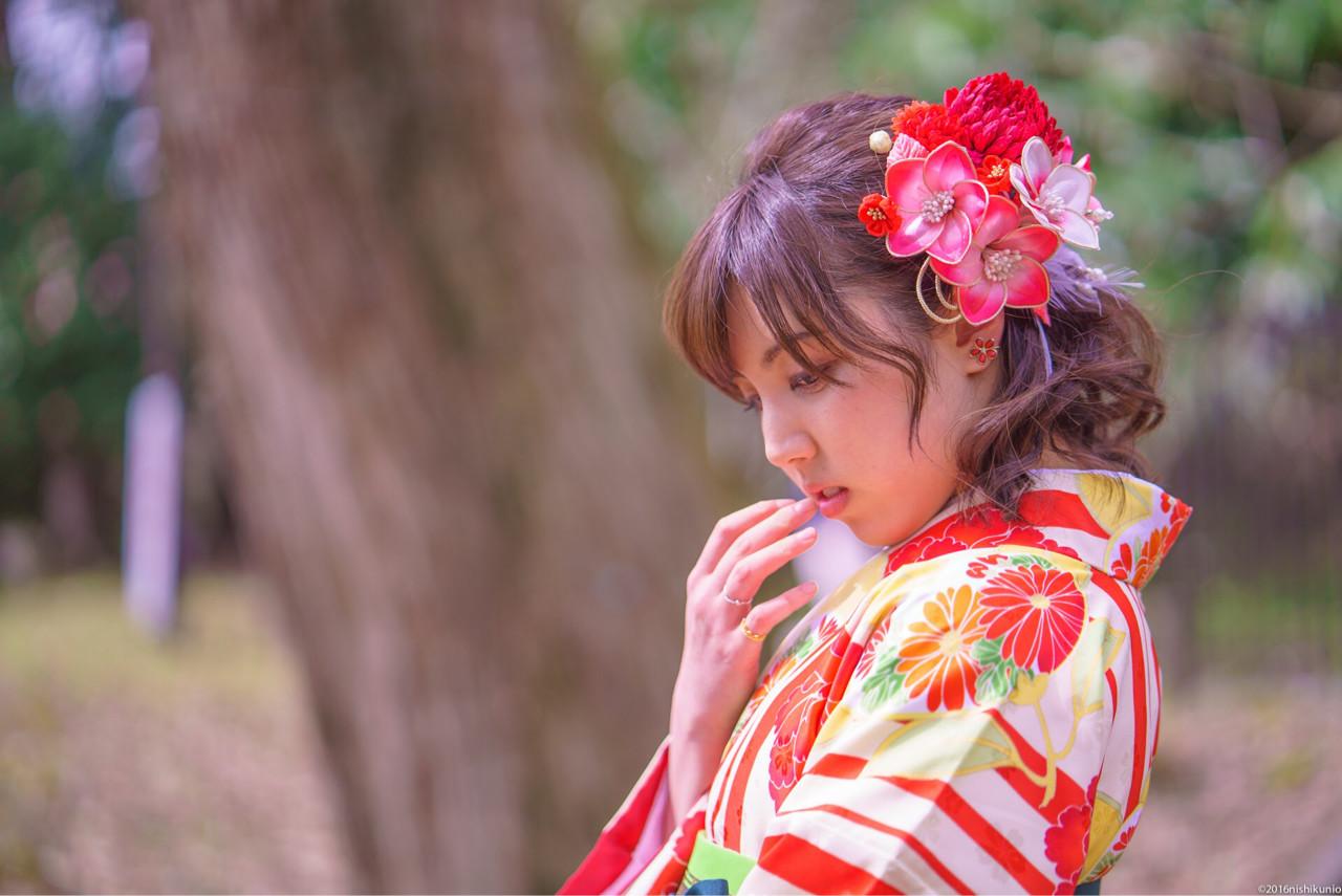 成人式・卒業式におすすめ。着物に合わせたいヘアスタイルまとめ  入江桜子