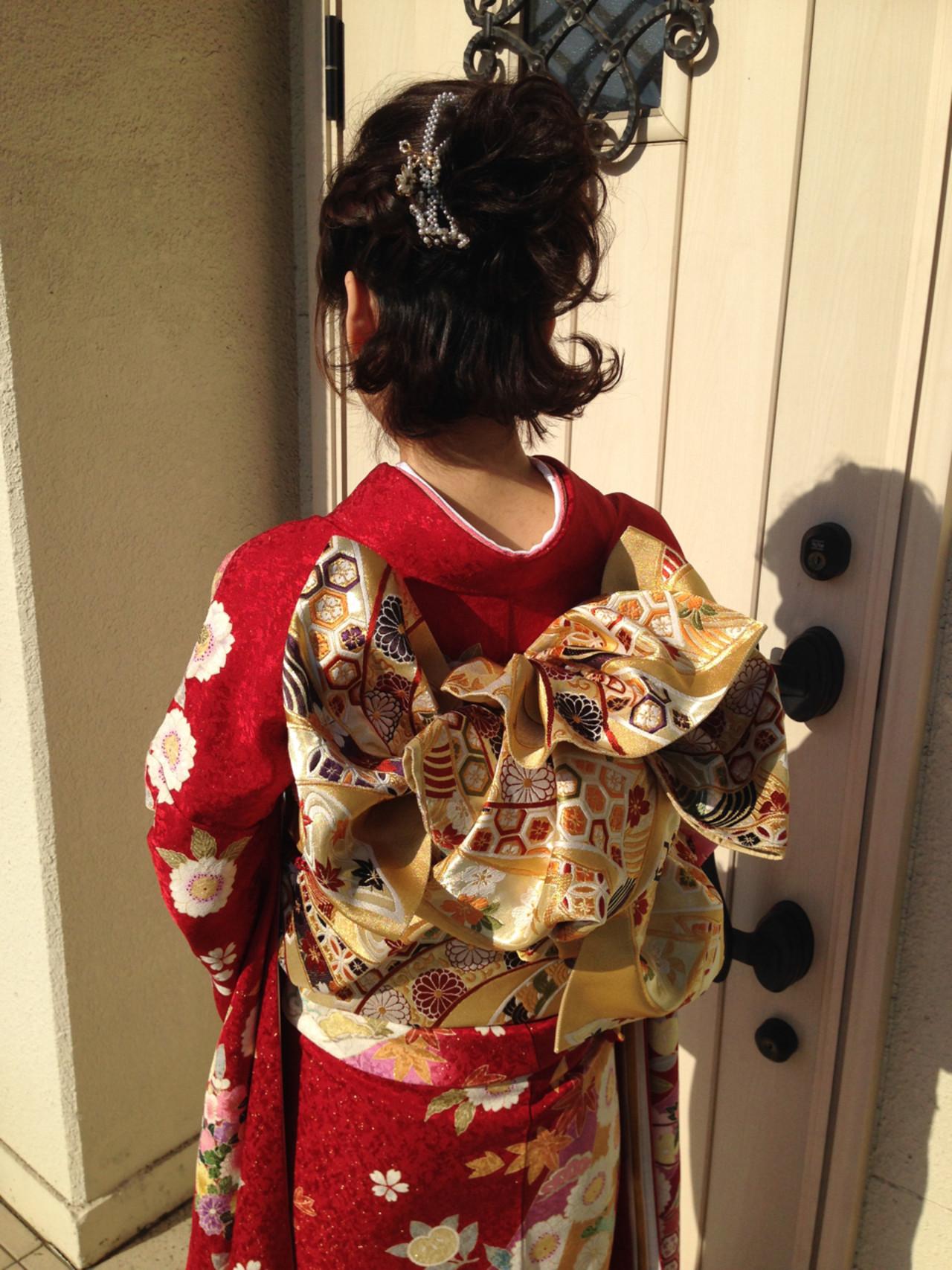 成人式・卒業式におすすめ。着物に合わせたいヘアスタイルまとめ  二村真弓