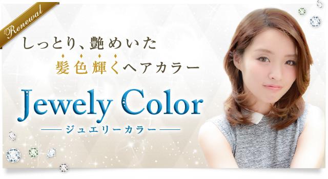 しっとり、艶めいた、髪色輝くヘアカラー Jewely Color-ジュエリーカラー-