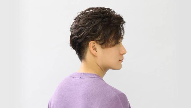 ウェーブの均一性で<br>毛髪履歴が複雑なメンズに対応