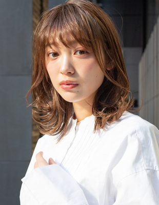 大人かわいい20代30代40代小顔カットくびれミディ(SR-128)