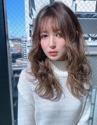 20代30代 小顔に魅せる 大人可愛いこなれヘア(hs-6)