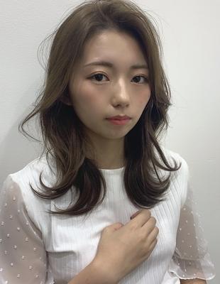 ナチュラル 韓国風ヘア 色っぽ セミロング (TO-4)