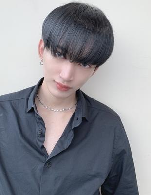 韓国風 マッシュ メンズ 黒髪