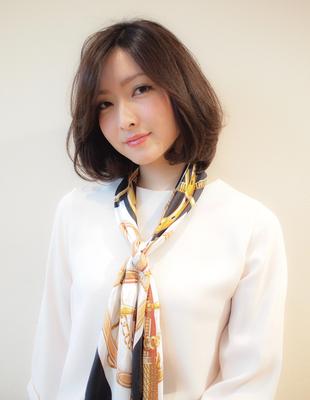 前髪伸ばしかけ 40代ヘア (YU-209)