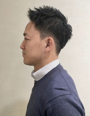 スーツに合う!刈り上げで爽やかなメンズヘア(ko-96)