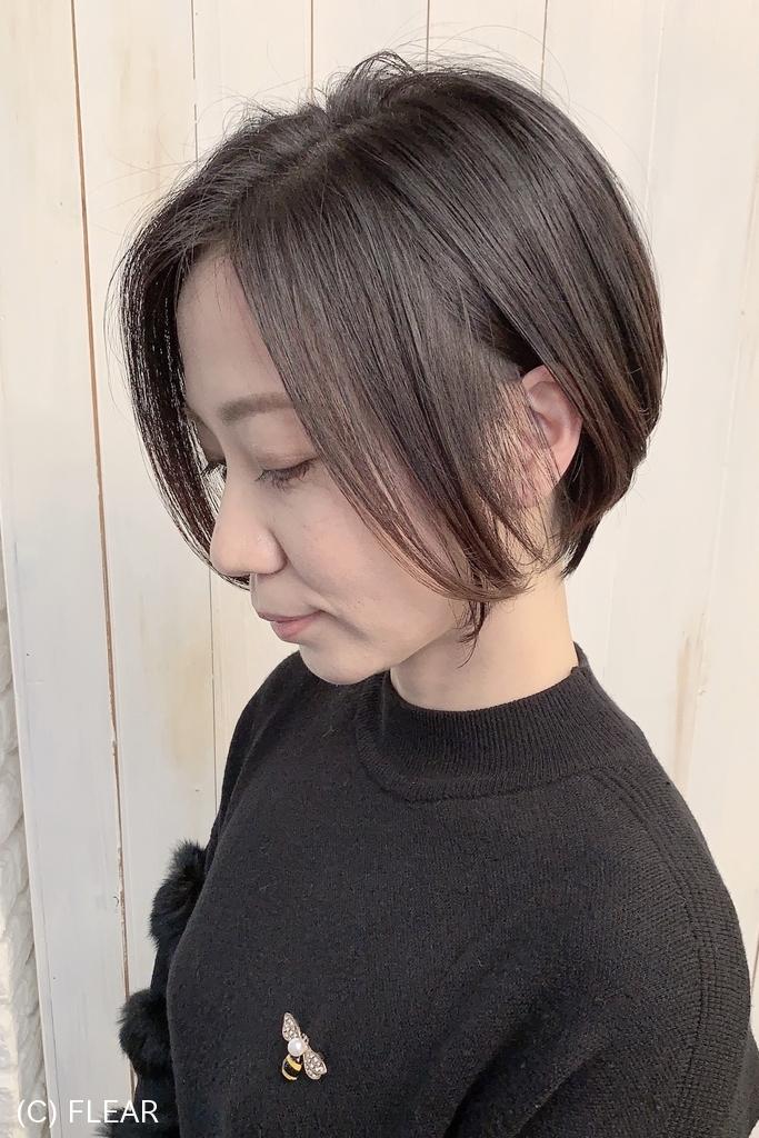 束感がアップするショートボブ【古賀 義大】