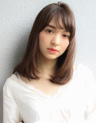 大人かわいい小顔ミディアムヘア (SH−49)