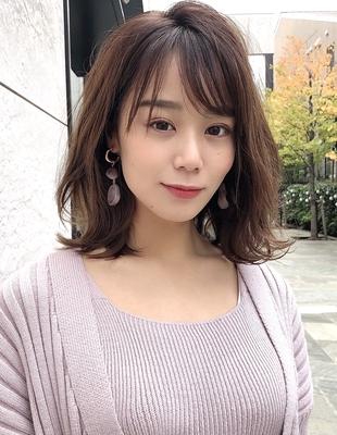 30代40代髪型ひし形ミディアムヘア(s-148)