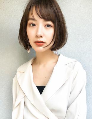 20代30代髪型大人かわいい ワンレンボブ(SH−161)