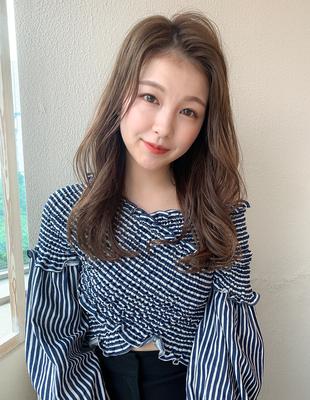 20代30代40代韓国風かきあげ前髪セミロング(SH−201)