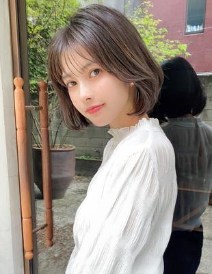 20代30代髪型重めボブシースルーバング (SH−205)