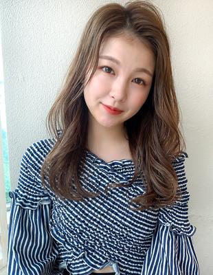 韓国ヘア かきあげ前髪がかわいいレイヤーヘア(SH−232)
