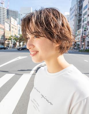 くせ毛ショートヘアスタイル似合わせ小顔(SR-101)