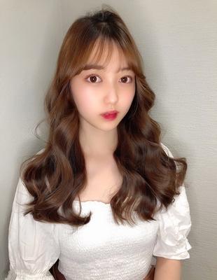 シースルー前髪とレイヤーカットで可愛い韓国ヘアに(hm-2)