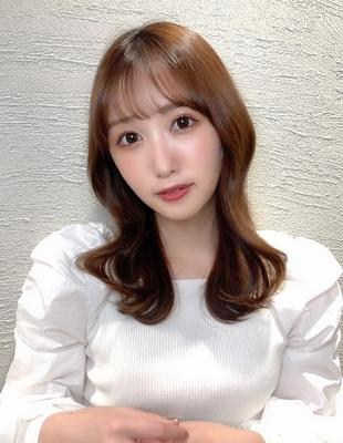 顔周りが可愛い◎上品な韓国セミロングヘア(hm-5)