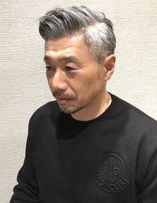 40代、50代のデキる男の刈り上げヘア(ko-26)