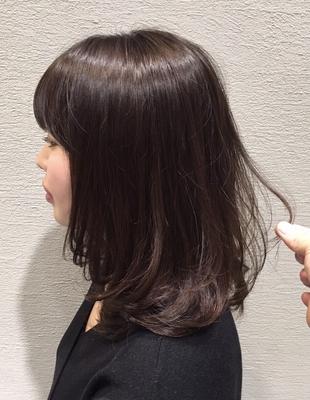 30代働く女性必見☆暗髪内巻きミディ(ko-37)